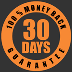 30 days, 100% money back guarantee